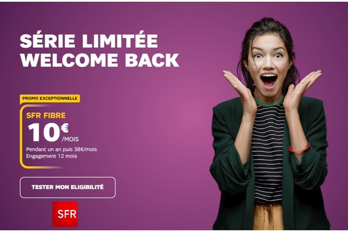 La box Internet Welcome Back de SFR s'arrête ce soir.