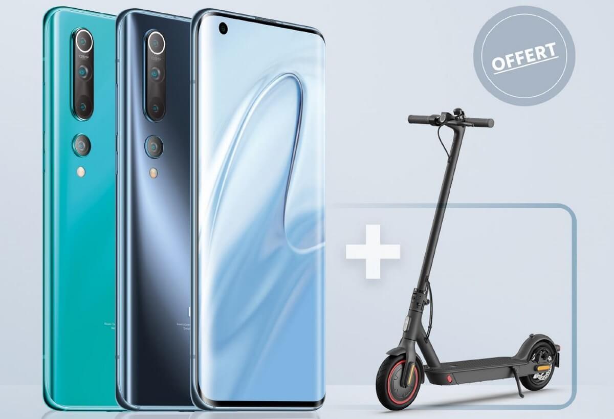 Xiaomi Mi 10 + Trottinette Mi Scooter offerte chez SFR