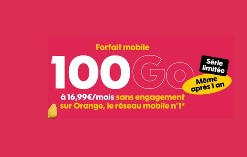 Le forfait 100 Go en promotion chez Sosh