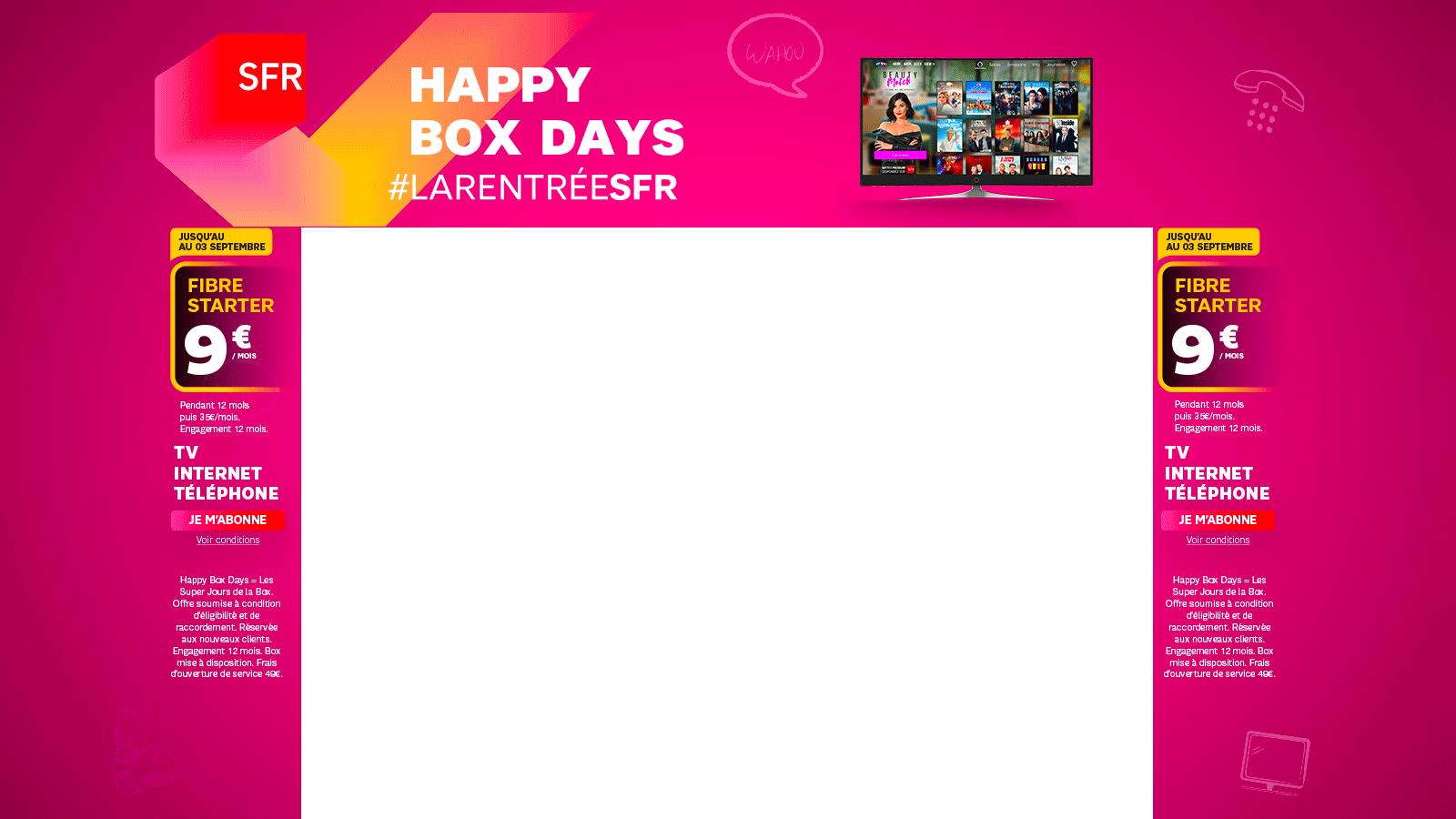 Internet à 5mois Pendant Un An La Happy Box De Sfr Fait Sa Rentrée