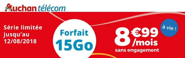 Série Spéciale 15 Giga chez Auchan Télécom