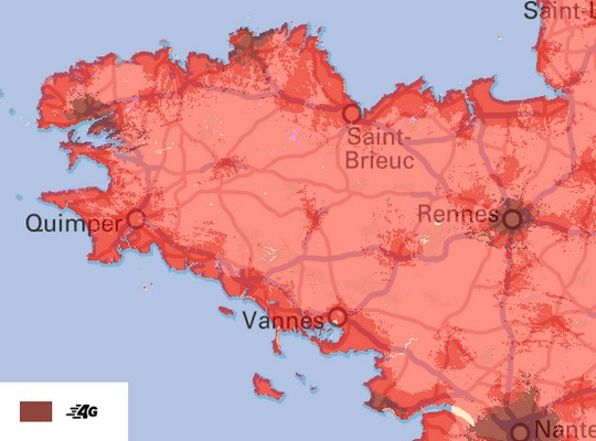 carte 4G Bretagne SFR