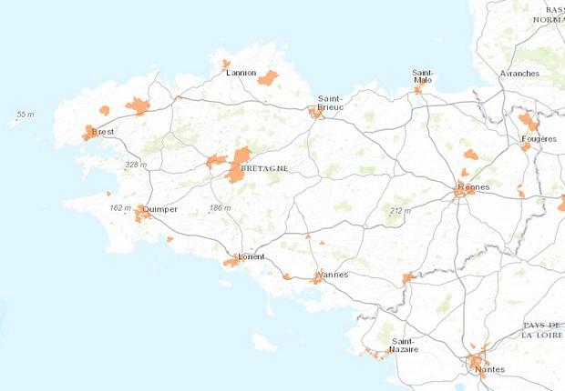 Carte Fibre Orange Bretagne.En Bretagne Orange Pourrait Bientot Ouvrir La Fibre Optique