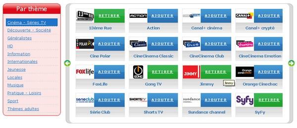 Quel fournisseur diffuse les chaînes TV que vous voulez ?