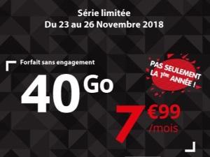 Carte Sim Auchan Telecom.Black Friday Le Forfait Auchan Telecom 40 Go A 7 99