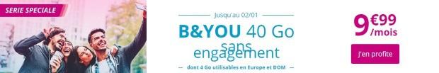 Changer de forfait mobile : la série spéciale B&You 40Go