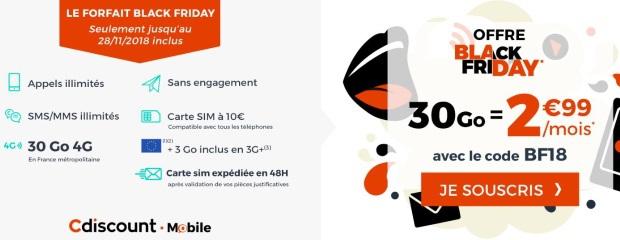Carte Cdiscount Mobile.Le Forfait Black Friday De Cdiscount Toujours D Attaque 30