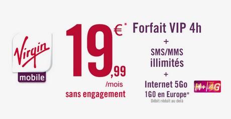 forfait 4G virgin mobile