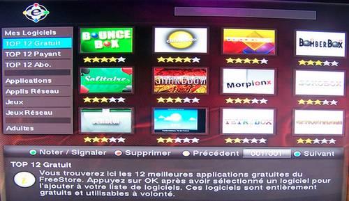 Free Store sur Freebox HD