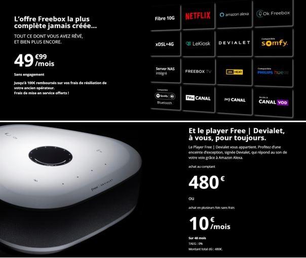Freebox Delta : le coût du Player Free / Devialet dans le viseur d'UCF Que Choisir