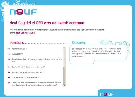 Rapprochement Neuf SFR