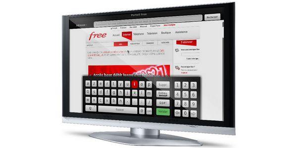 navigateur web intégré dans le freebox player