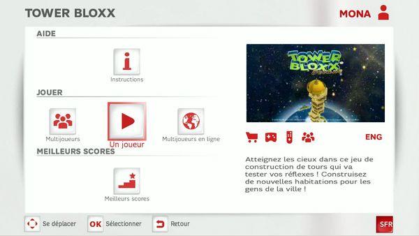 Jeux Neufbox TV SFR