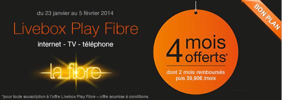 4 mois offerts sur la livebox play fibre