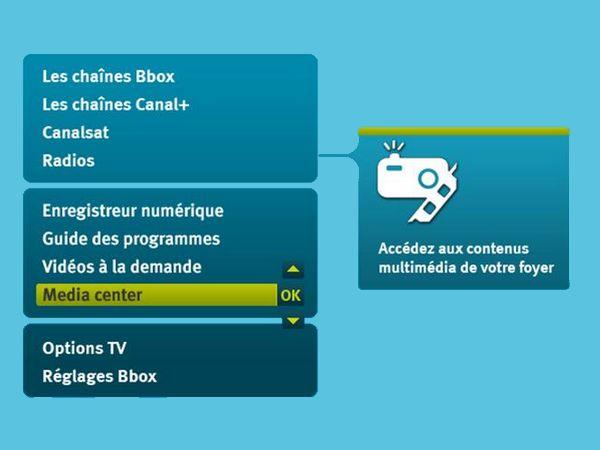Media Center Bouygues bbox