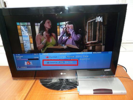 Multisources sur le décodeur TV Neufbox de SFR