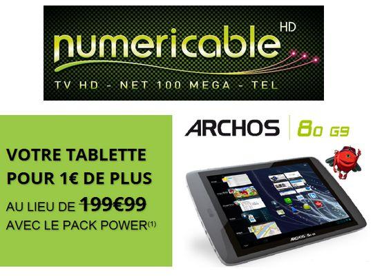 La tablette Android Archos offerte avec une offre Power