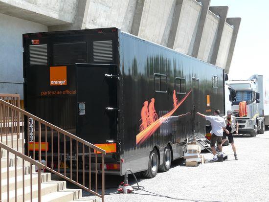 Camion Orange sur le Tour de France