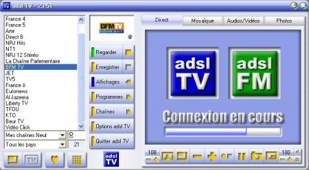 chaînes ADSL TV