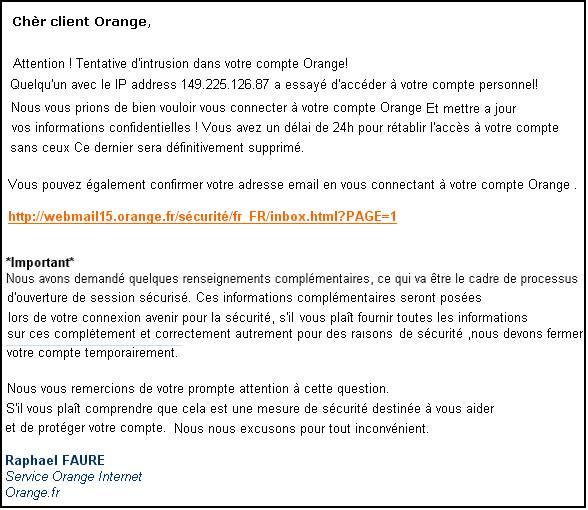 Abonnés Orange : attention au phishing !