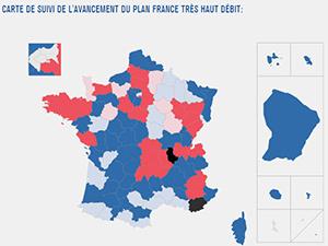 france très haut débit carte Bilan mai 2016 sur le Plan France Très Haut Débit : cela avance
