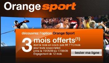 La chaîne Orange Sport est de nouveau commercialisée avec en prime une promotion