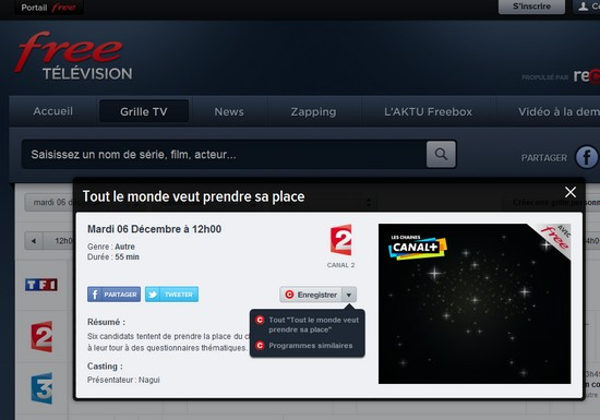 Un portail TV pour les freenautes