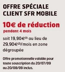 offre spéciale client SFR Mobile