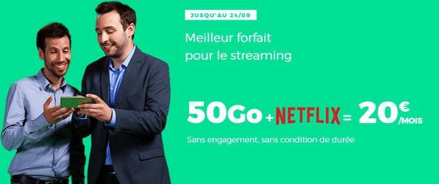 Le forfait mobile Red + Netflix à partir de 20€ par mois