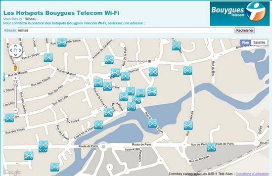 Le réseau communautaire Wi-fi de Bouygyues Télécom
