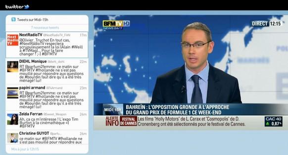 application Twitter sur les chaînes TV de la Box by Numericable