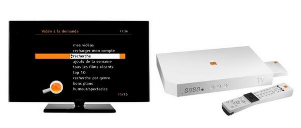 Video à la demande sur Livebox Orange