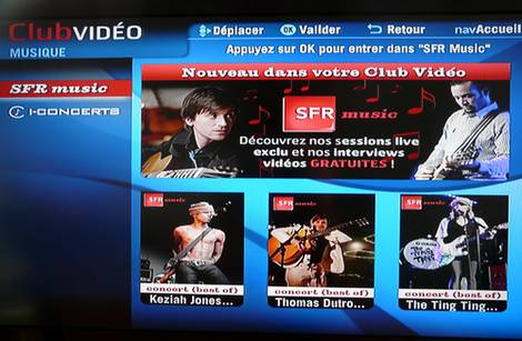 SFR Music en VoD et en JT