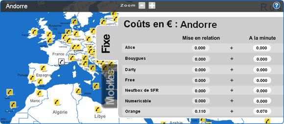 Une nouvelle version de notre comparatif des tarifs des appels passés depuis une Box vers tous les pays du Monde est disponible.