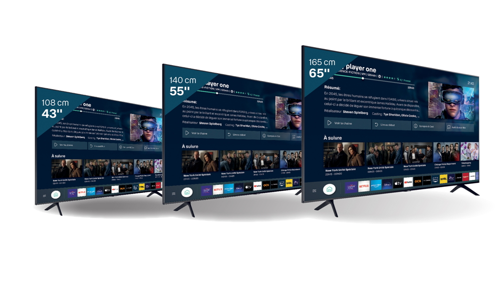 Bbox Smart TV : trois tailles de téléviseurs Samsung disponibles
