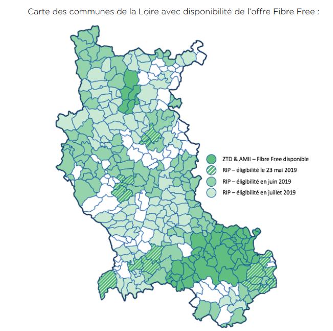 Fibre Free dans la Loire sur le réseau THD42