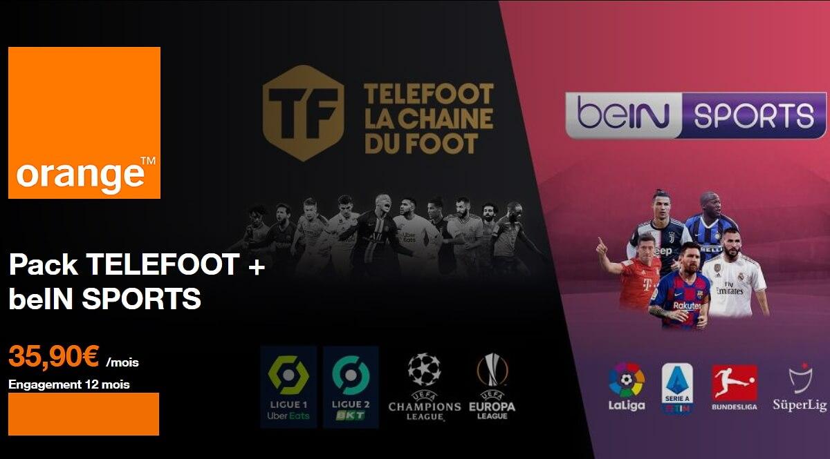 Telefoot et BeIN Sports à prix réduit chez Orange